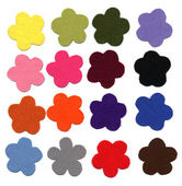Flower color felt samples — Stock Photo