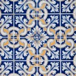 Traditional Portuguese glazed tiles - Foto Stock
