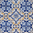 Traditional Portuguese glazed tiles -  