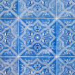 Traditional Portuguese glazed tiles — Foto Stock