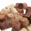 Stock Photo: Used corks from bottles guilt