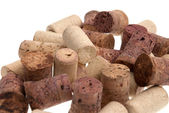 Used corks from bottles guilt — Stock Photo