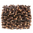 Pile of assorted sawed twigs and branches — Stockfoto