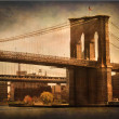 Stock Photo: Brooklyn Bridge Textured
