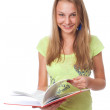 Stock Photo: Young student with book