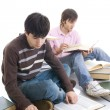 Stock Photo: The two students with the books