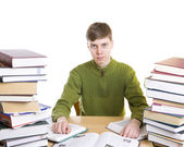The young student with books — Stock Photo