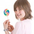 The girl with a sugar candy — Stock Photo