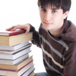 Stock Photo: Young student with books