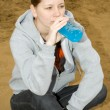 The young drinking girl — Stock Photo #2956520