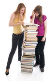 The two young students isolated — Stock Photo