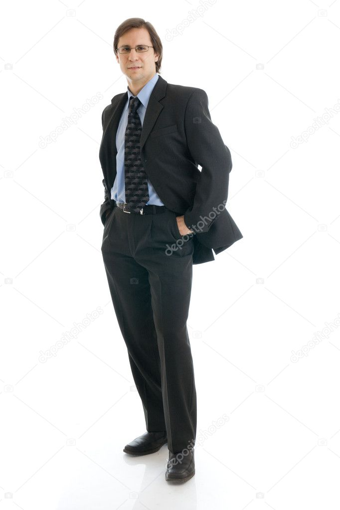 The man in a suit isolated on a white background — Stock Photo #2955922