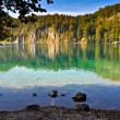 Alpine mountain lake - Stock Photo