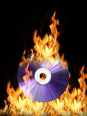 Burning cd — Stock Photo