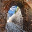 Stock Photo: Passage in ancient stronghold