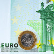 Royalty-Free Stock Photo: 100 euro and  1 euro