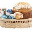 Basket of Easter eggs — Stock Photo #2861133