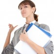 Young girl in office clouses — Stock Photo #2862173