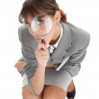 Stock Photo: Young girl in office clouses