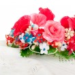 A wreath of artificial flowers — Stock Photo #2863024