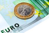 100 euro and 1 euro — Stock Photo