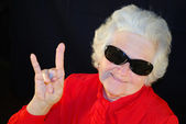 A portrait of elderly woman — Stock Photo