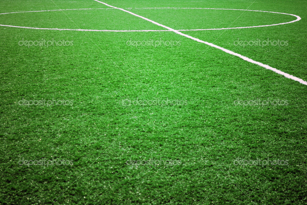 Football grass background in light and shadow — Stock Photo #2860710