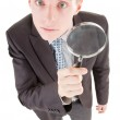Man and magnifier — Stock Photo #2874134