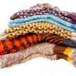 Gift woolen socks - Stock Photo