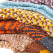 Gift woolen sock - Stock Photo