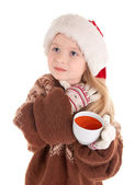 Baby christmas girl — Stock Photo