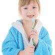 Child with toothbrush — Stock Photo