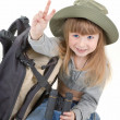 Baby girl - tourist — Stock Photo