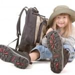 Baby girl - tourist — Stock Photo