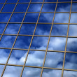 Mirror reflection of sky and clouds — Stock Photo