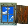 Window with a sky view — Stock Photo