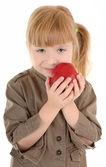Bébé fille avec apple — Photo