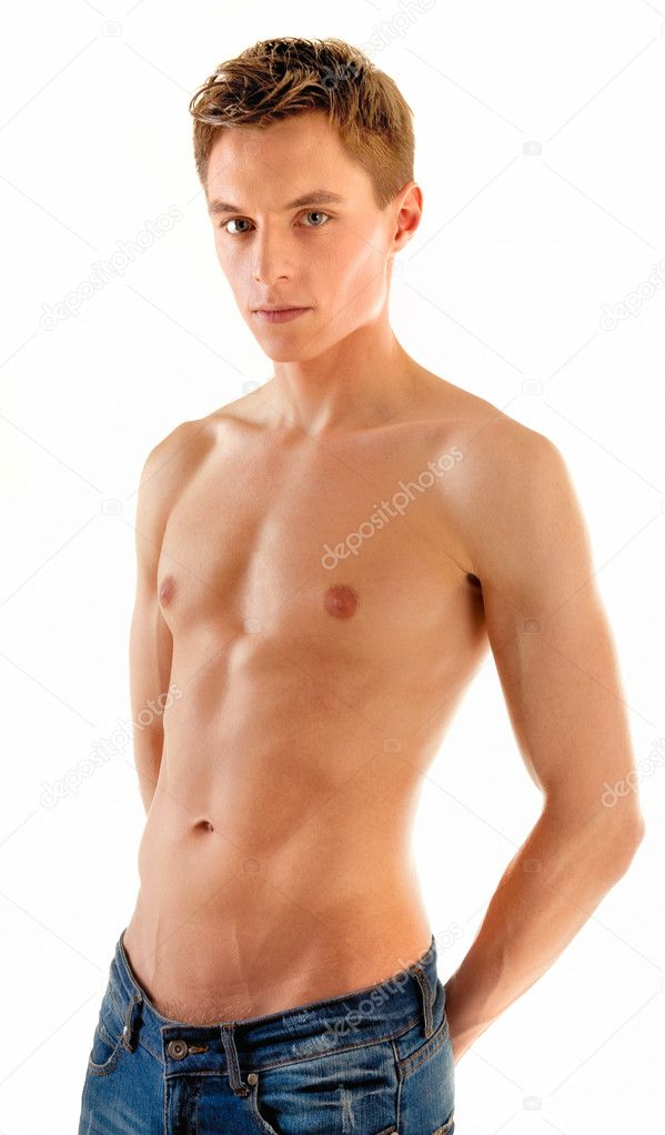 Young man - sportsman with a bare torso  Stock Photo #2886895