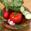 Stock Photo: Palatable vegetables