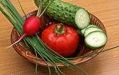 Vegetables snack — Stock Photo