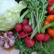 Palatable spring vegetables - Stock Photo