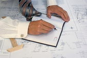 Engineering plan — Stock Photo