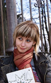 Girl-student — Stock Photo