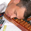 Royalty-Free Stock Photo: Sleeping engineer- planner