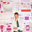 Engineer- planner — Stock Photo
