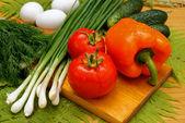 Appetizing light vegetables snack — Stock Photo