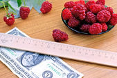 Choice profiled raspberry — Stock Photo