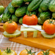 Vegetables dinner party — Foto de Stock