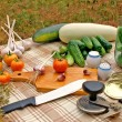 Preservation appetizing summer vegetables — Stock Photo #3568222