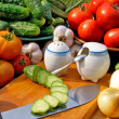 Appetizing vegetables food — Stock Photo